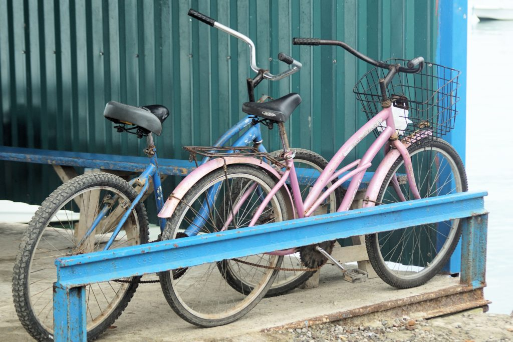 bikes in costa rica pink blue